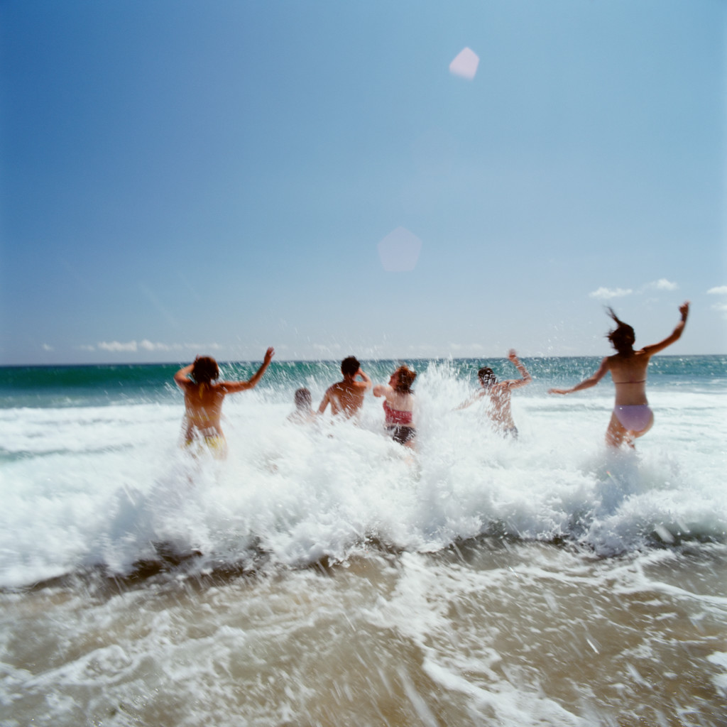 Fun on the beach --- Image by © Royalty-Free/Corbis