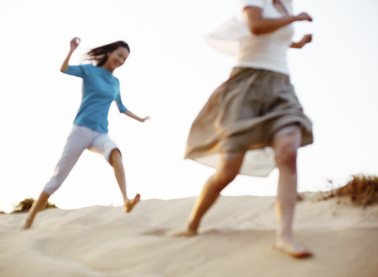 Running and Carefree --- Image by © Royalty-Free/Corbis